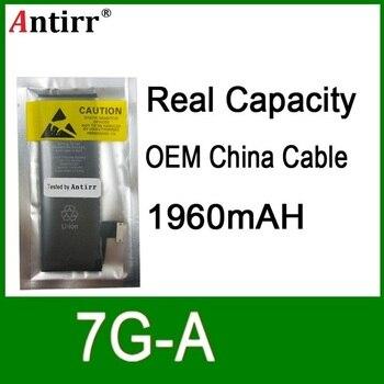 10pcs/lot Real Capacity China Protection board 1960mAh 3.7V Battery for iPhone 7g zero cycle replacement repair parts 7G A
