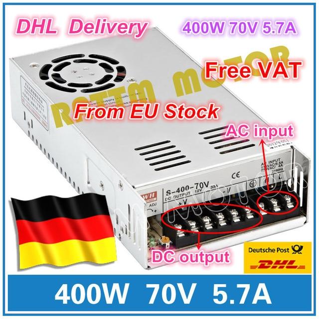 DE ship 400W 70V 스위치 DC 전원 공급 장치 S 400 70 5.7A 단일 출력 CNC 라우터 포밍 밀 컷 레이저 조각기 플라즈마