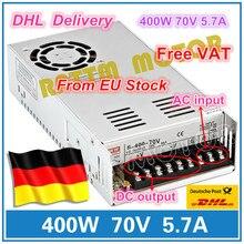 De ship 400w 70v interruptor dc fonte de alimentação, S 400 70 5.7a saída única para cnc roteador, moinho de espuma corte gravador a laser de plasma