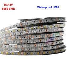 DC12V 5050 SMD Flexible LED Strip Light 1M 2M 3M 4M 5M 60leds/m Lighting Strip IP30/IP65 Christmas desk Decor lamp tape