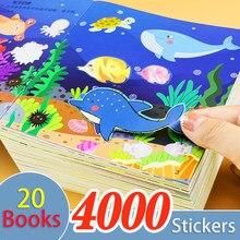 Autocollants pour livre de formation et d'éveil pour enfants de 0 à 6 ans, étiquette de jeu de réflexion, d'éveil, éducation précoce, 20 pièces