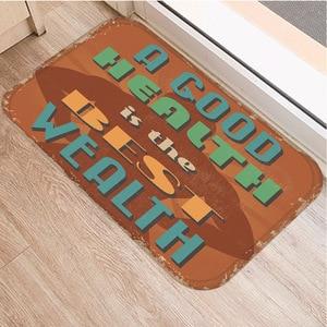 Image 2 - Нескользящий декоративный коврик в британском стиле, ковер для кухни, пола, гостиной, домашний Мягкий Нескользящий дверной коврик 40x60 см