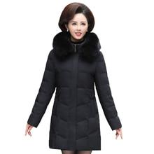 Real Fox Fur Collar Women Jacket Winter Coats 70% White Duck Down Jacket Women Lpng Parka Plus Size 5XL Mother Womens Clothing стоимость