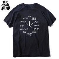 Мужская футболка COOLMIND, футболка с коротким рукавом и круглым вырезом из 100% хлопка, летняя футболка