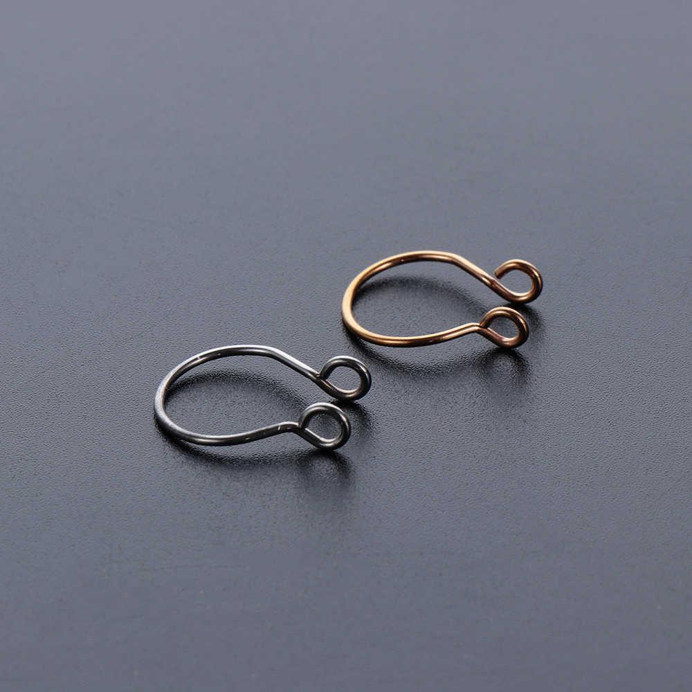5Pcs Fashion Kuda Palsu Bebas Menusuk Swirls Septum Klip Pada Hidung Cincin Unisex Tilp Di Ring Iny Fashion cantik Wanita Perhiasan Tubuh