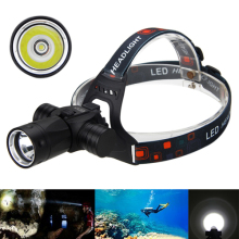 6000 Lumen CREE XM-L T6 Torch Light Underwater 100M Headlamp LED Diving Headlight Swimming Dive Lamp