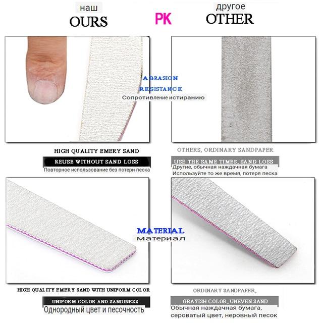5Pcs/Lot Nail File 100/180 Sanding Buffer Block Pedicure Manicure Buffing Polish PP Or Wood Professional Files Tool Grey Boat 5