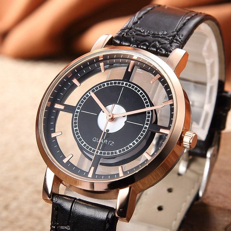 Fashion Women Watch Luxury Unique Stylish Double Hollow Lady Watches Elegant Casual Quartz Wristwatch Reloj Mujer 2019