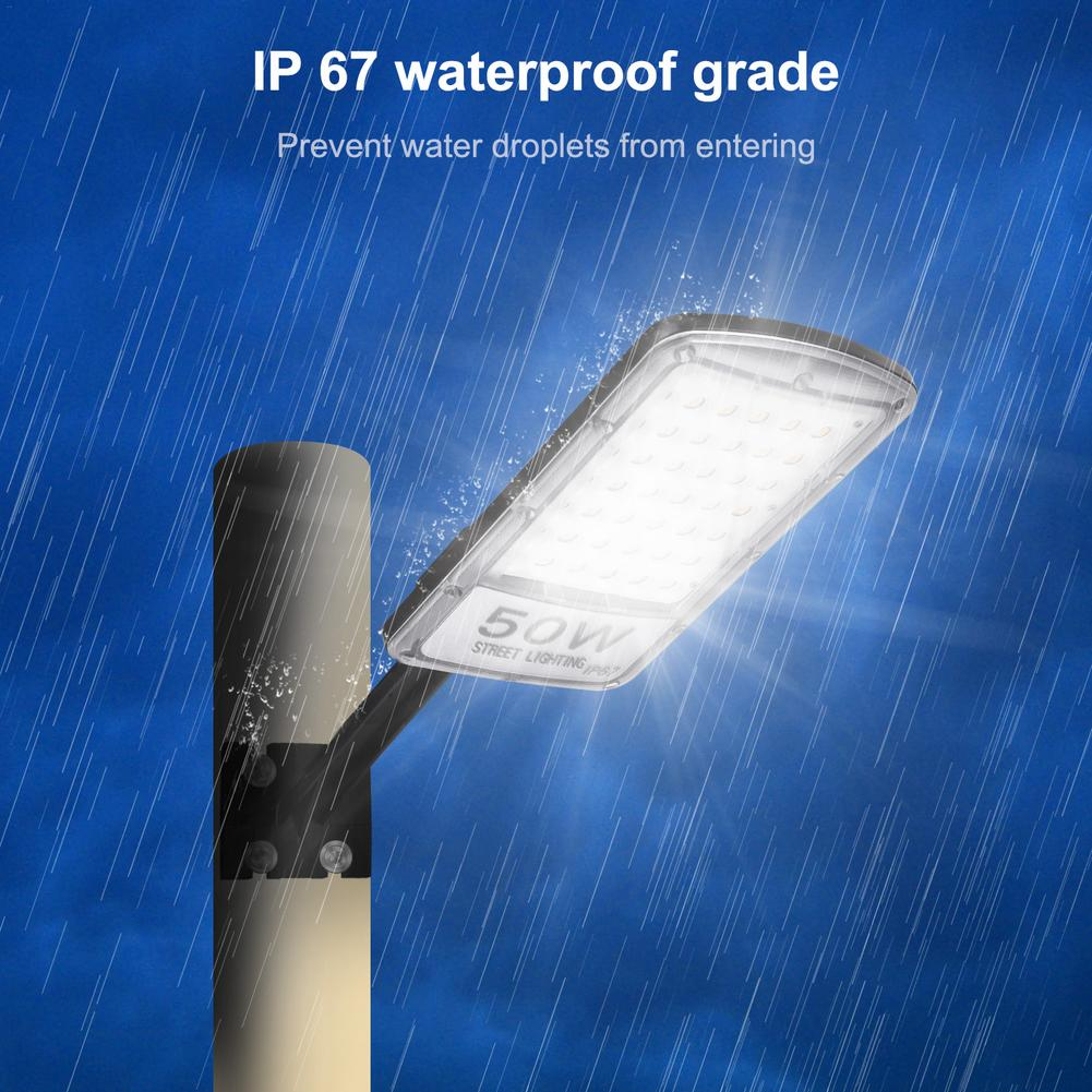 2pcs 50W Led Street Light Waterproof IP67 220V Led Streetlight Road Garden Lamp White Light Led Spotlights Wall Lamp Cool White