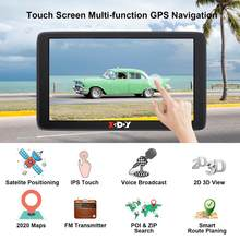 Xgody Car GPS Navigation 7 Inch Touch Screen GPS Navigator Truck Sunshade Sat Nav 256M+8G 2020 America Europe Map GPS Navigators