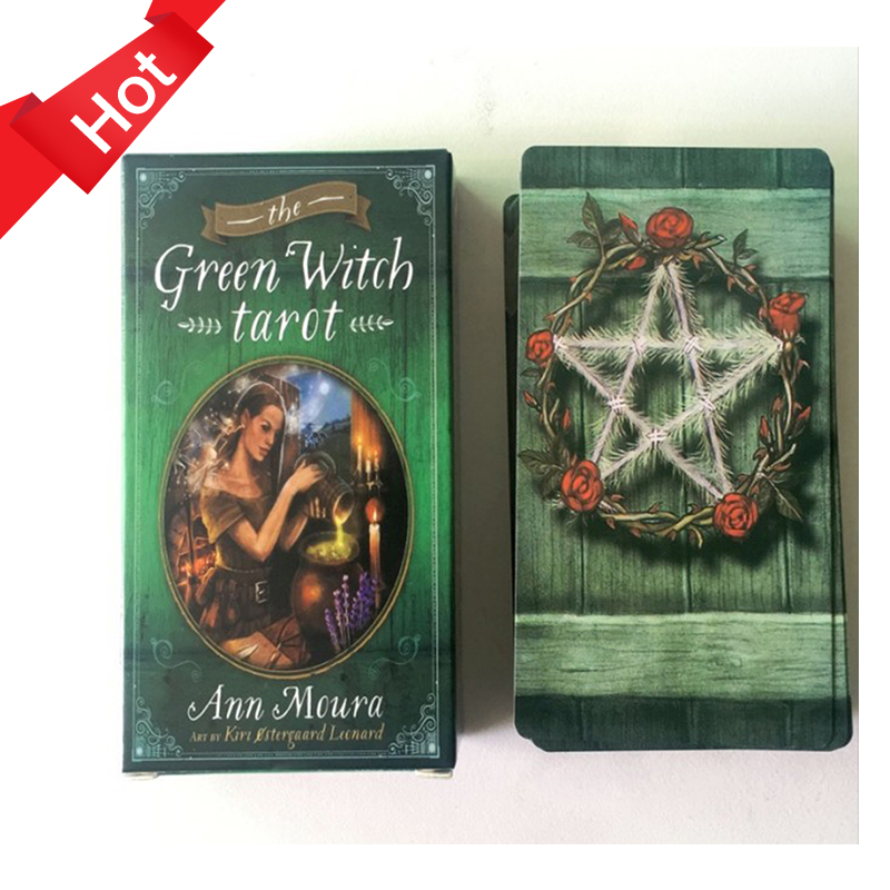 78 Cards The Green Witch Tarot Cards English Guidance Divination Destiny Tarot Deck Board Games Cards For Family Party Game image