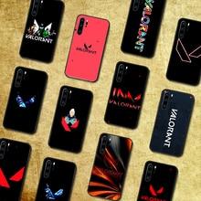 Logotipo valorant caso de telefone para huawei p companheiro 10 20 30 40 lite pro inteligente z 2019 nova 5t preto capa macia prime moda celular tpu