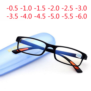 TR90 Frame Glasses Finished Myopia Product Eyewear Men Women Degree Spectacles -0.5 -1.0 -1.5 -2.0 -2.5 -3.0 -3.5 -4.0 -5.0 -6.0