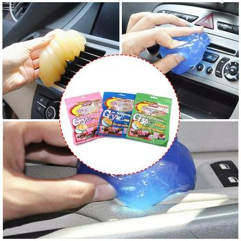 1Pcs Super Auto Car Cleaning Pad Glue Powder Dust Remover Keyboard Home Tool Cleaner Cleaner Magic Gel Computer Color Random image