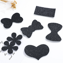 Hairdressing-Accessories Hair-Sticker Hairpin-Styling-Tools Barber Black Heart 3-6pcs