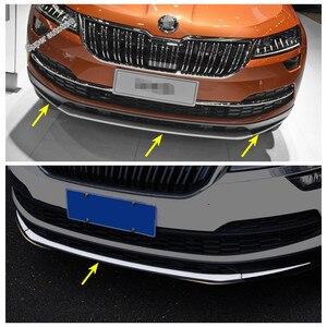 Image 2 - Amortecedor dianteiro splitter sill listras capa de proteção lábios guarnição kit estilo do carro acessórios 3 pçs apto para skoda karoq 2018   2020