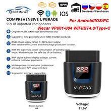 OBD2 Car Scanner-Tool Bluetooth-4.0 Viecar Elm327 V2.2 Diagnostic PIC18F25K80 Elm 327