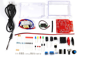 Image 2 - Eu 220 v diy LM317 可変電圧電源ボード学習キットとケース