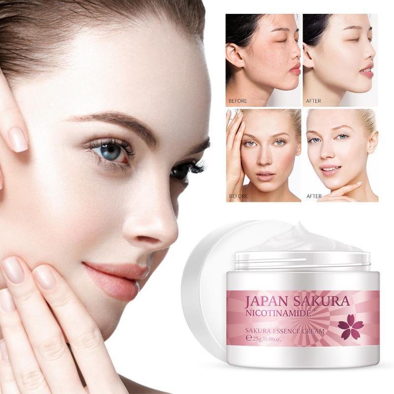 יפן סאקורה פנים קרם פנים קרם לחות נגד קמטים אנטי אייג 'ינג סרום ויטמין C הלבנת קרם טיפוח עור פנים טיפול 25g