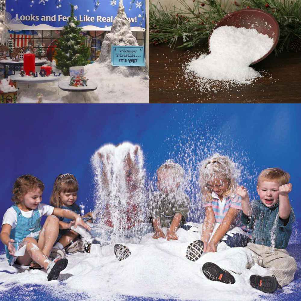 10pc חבילה מלאכותי פתיתי שלג שלג בנוסף רפש מילוי עבור רפש DIY בנוסף פולימר רפש אביזרי Lizun לילדים צעצועים