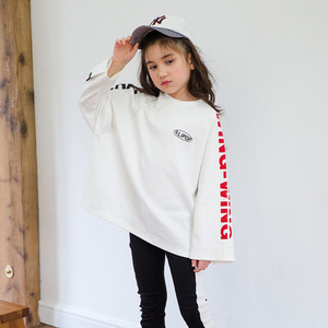 Image 2 - Ragazzi di Autunno della molla Delle Ragazze di Sport Set Femminile Bambini Casual T Shirt Bambini del Vestito Hip Hop Lettera Maniche Adolescenti Tute CA854
