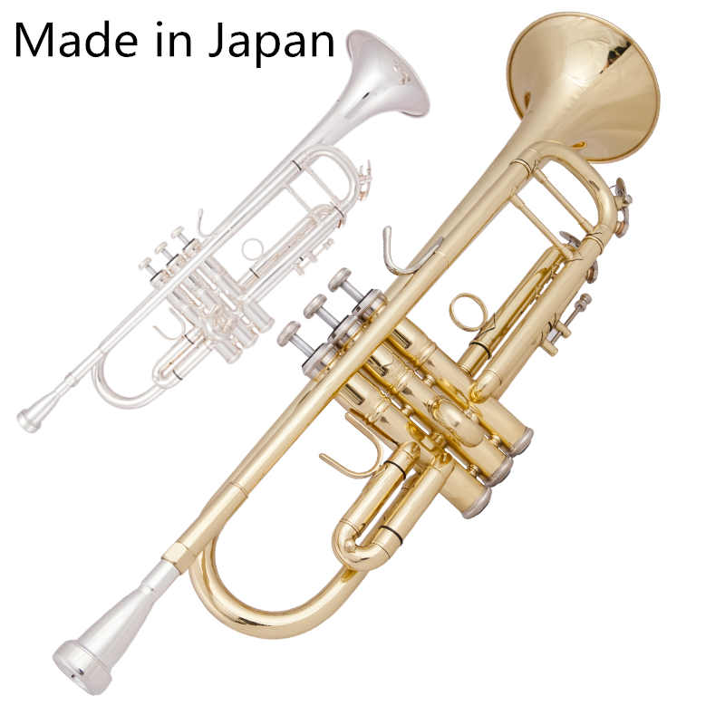 Made In Japan 8335 Silver Plated Small Trumpet Pipe Bb Flat Instrument Brass Strudents Bb Trompeta