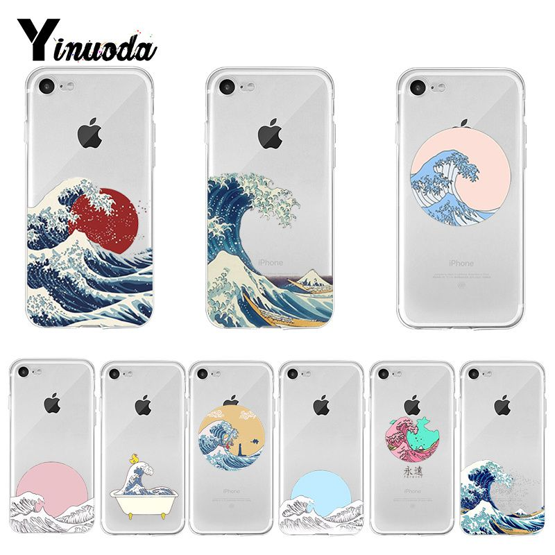 Yinuoda The Great Wave off Kanagawa DIY Phone Accessories case for Apple iPhone 8 7 6 6S Plus X XS max 5 5S SE XR Cover