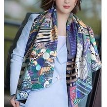 ขนาดใหญ่สแควร์ผ้าไหมผ้าพันคอผ้าพันคอ Wraps Cape ผ้าห่มผ้าพันคอสำหรับผู้หญิง