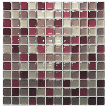 Mosaic Wall Tile Peel and Stick  Self adhesive Backsplash DIY Kitchen Bathroom Home Wall Sticker Vinyl 3D 23