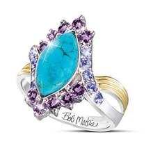 12 constellation padrão retro mulher cabeça estrela lua anel feminino moda cristal incrustado acessórios festa jóias tamanho 5-11