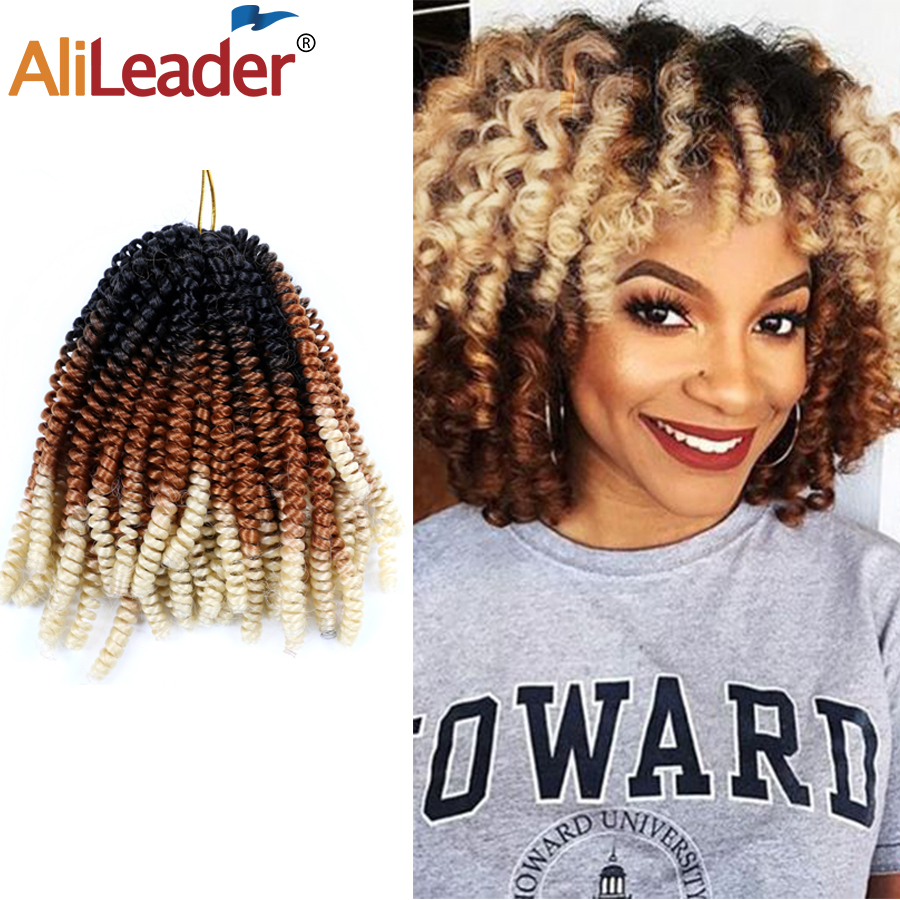 "Alileader 8"" New Spring Twist Hair Extensions Synthetic Hook Braids Fake Hair Cheep Crochet Braid Twit For Hair"