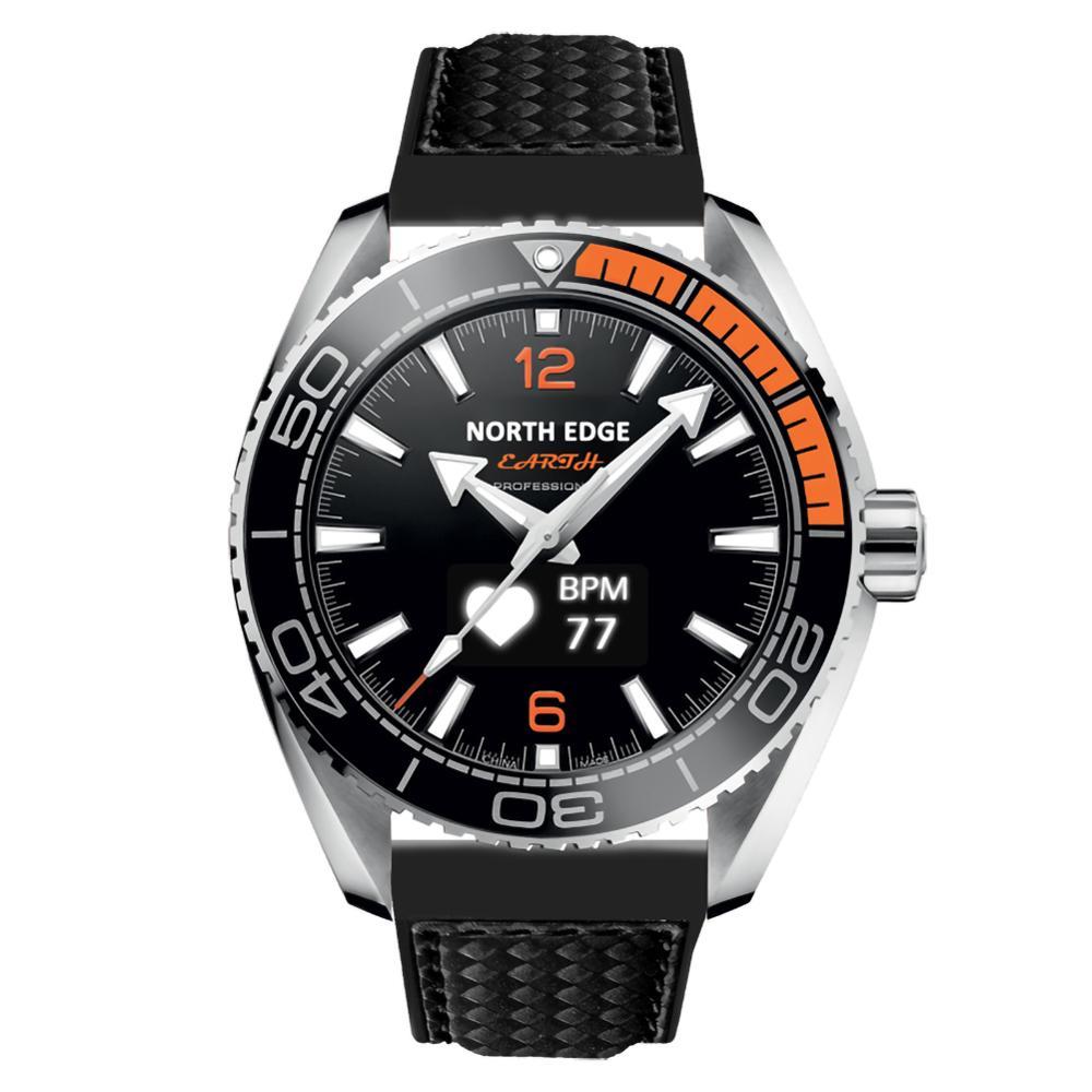 North Edge Sport Digital Men Watch Military Luxury Waterproof 50M Pedometer Heart Rate Smart Watch 40DC27