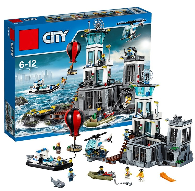 Models building toy Compatible Legoinglys City 60130 Series Building Blocks The Prison Island toys & hobbies Christmas gift