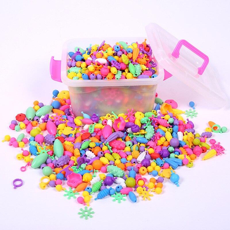 DIY Children Handmade Educational Toy Cordless Pop Beaded Bracelet Necklace Bracelets Early Education Bracelets
