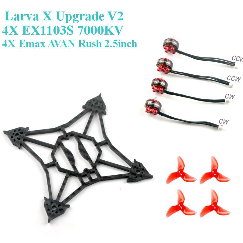 Happymodel Larva X Upgrade V2  Frame Kit EX1103S 1103 7000KV Motor Set for RC Drone FPV Racing Cine Whoop Toothpick BetaFPV