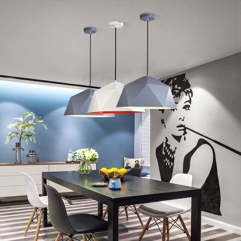 Suspension lumières coloré nordique suspension lampe nordique vintage lampe loft décor design moderne salle à manger cuisine luminaire led - 2