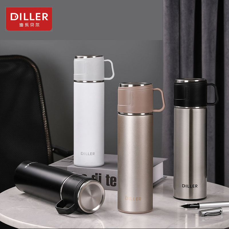 DILLER MLH8902  thermos double layer 304L stainless steel thermos thermos coffee tea milk travel large capacity kettle