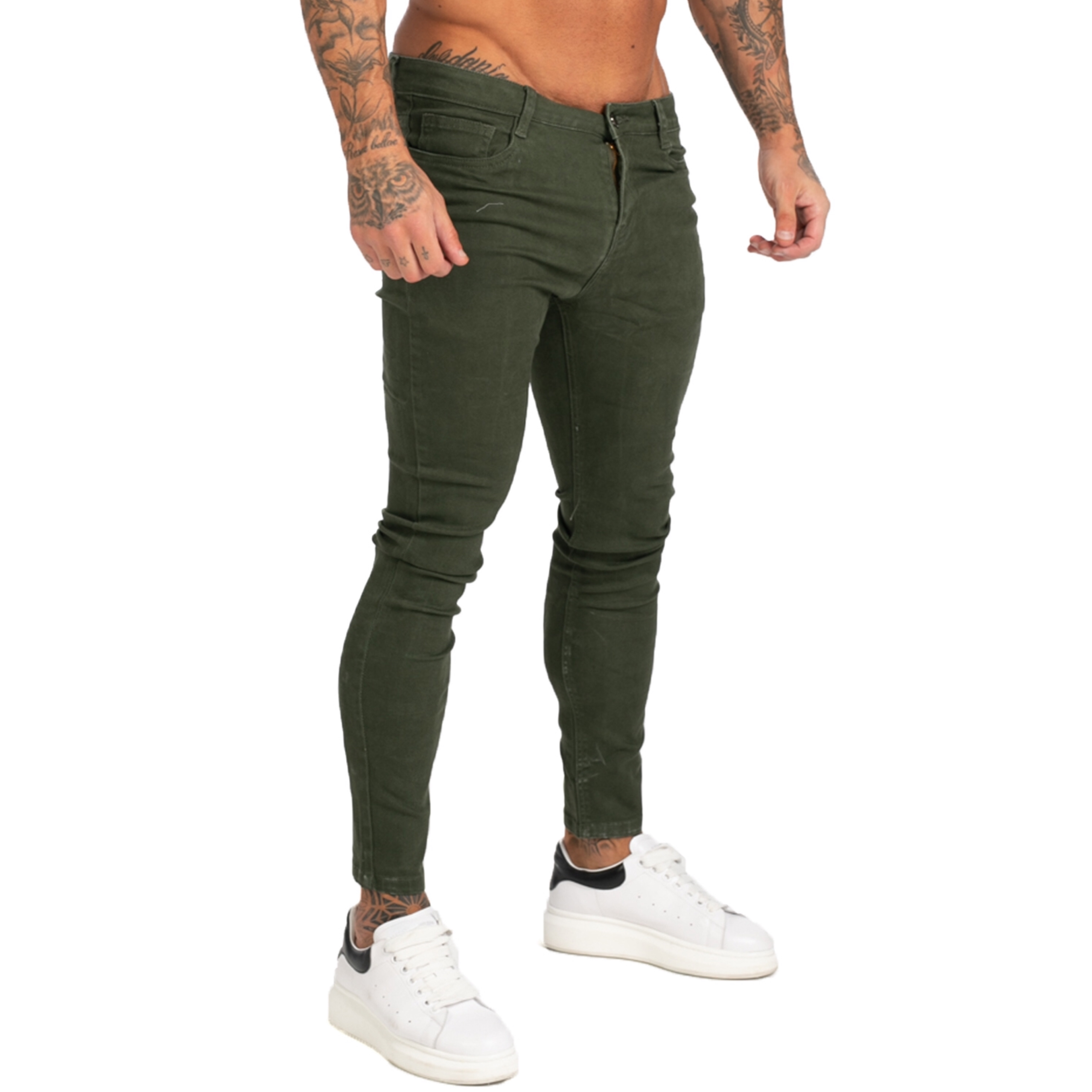 GINGTTO Brand Jeans Men Homme Slim Fit Super Skinny Jeans For Men Hip Hop Ankle Tight Cut Closely To Body Big Size Stretch Zm171