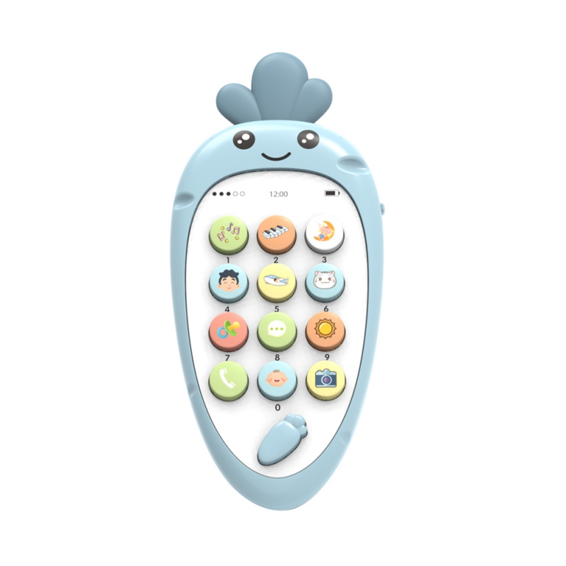 Toy Mobile Phone Soft Plastic Early Education Puzzle Bilingual Infant Safety Can Bite Multi-Function