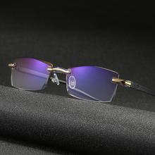 Bez oprawek blokujące niebieskie światło okulary do czytania okulary komputerowe okulary do czytania okulary do czytania okulary do czytania okulary do czytania okulary blokujące tanie tanio CN (pochodzenie) Z tworzywa sztucznego Unisex NONE LJJ368 5 4cm Frameless Reading Glasses Black Presbyopia Reader Glasses