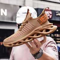 Rommedal homens lâmina leve tênis de corrida à prova de choque falta até respirável masculino aumento da altura sapatos caminhada ginásio homem