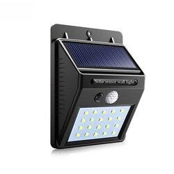 Solar lâmpada de parede portátil led sensor de luz automaticamente acampamento tenda lanterna noite led jardim luz da estrada à prova dwaterproof água ao ar livre lâmpada