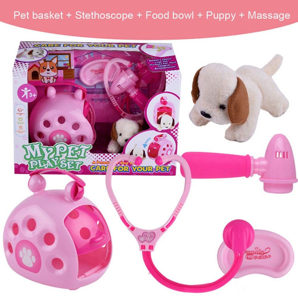 Puppy Pet Carrier Toys Learning Development for Children Toddler