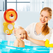 Baby Bath Play Toy Kids Bathtub Showers Toys Bathing Suction Cup Suckers Spray Games For Children new 1pc children baby bathing swim toy plastic bath water cup beach play toy
