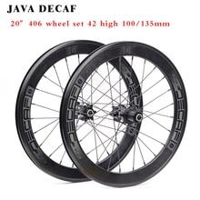 цена на JAVA DECA 20 inch cassette wheelset v brake disc brakes  aluminum alloy rim sealed bearing 406 folding bicycle BMX Bike Wheelset