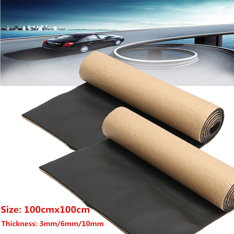 1Roll 200cmx50cm 10mm/6mm/3mm Car Sound Proofing Deadening Car Truck Anti-noise Sound Insulation Cotton Heat Closed Cell Foam
