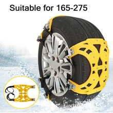 1x 2x 6x Automobile Tire Snow Chains Car tyres Anti-skid Chains Wheel Chain Safety Adjustable PU Winter Use Truck Van ATV
