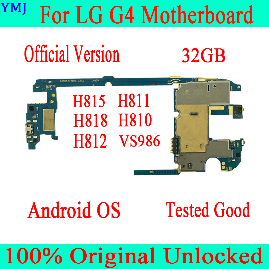 32gb Original unlocked for <font><b>LG</b></font> G4 <font><b>H815</b></font> <font><b>Motherboard</b></font> with Chips,Complete Logic Boards for <font><b>LG</b></font> G4 H811 H818 H810 H812 <font><b>Motherboard</b></font> image