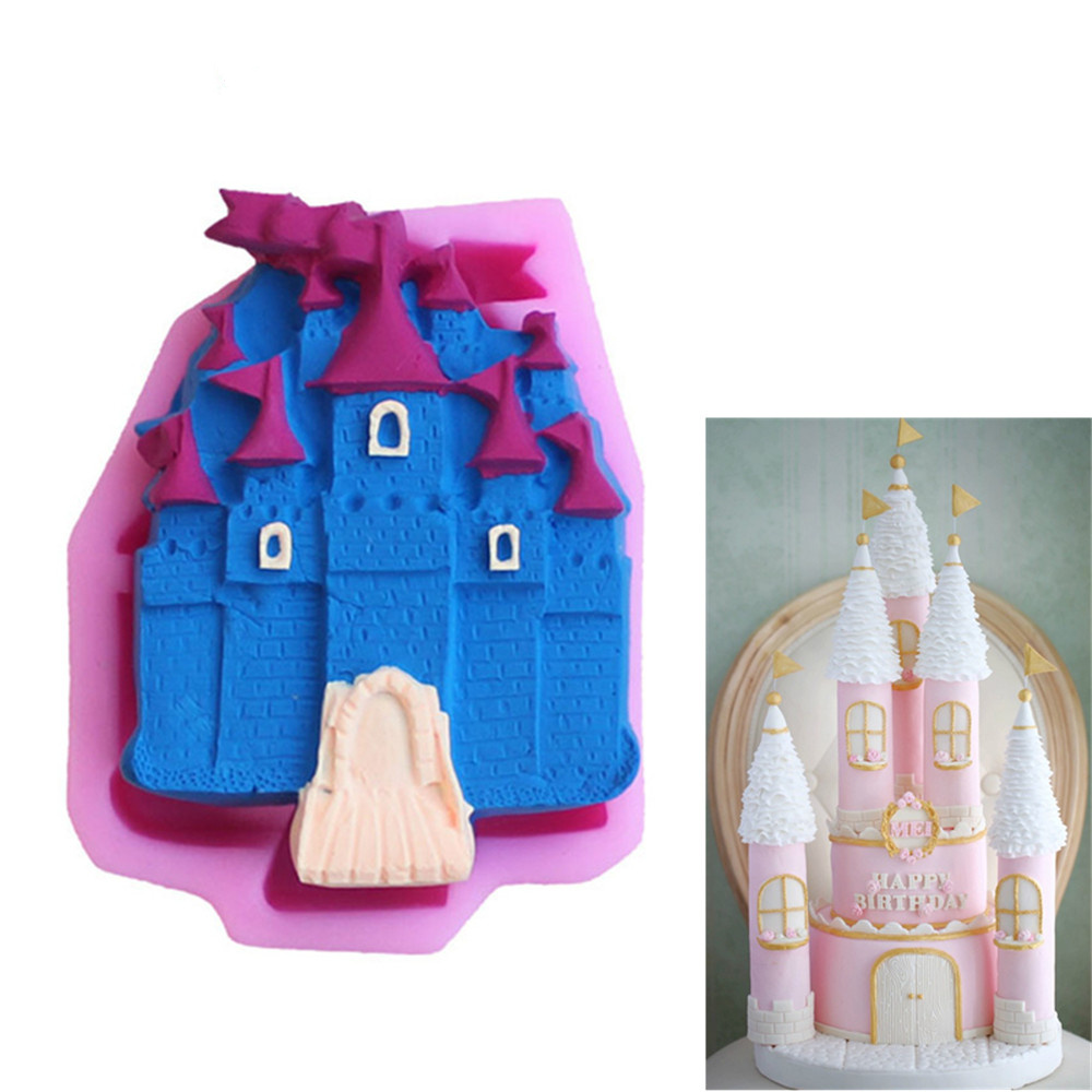 Castle shapes Silicone Mold Fondant Cake Decor Chocolate Craft Mold