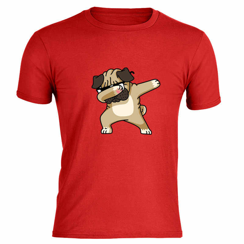 Optimistisch Super Hond Gedrukt Shirt In Man All-Match Zomer Tee Katoen Bright Red Overhemd Comic Custom Patroon Gedrukt Hot Koop tee